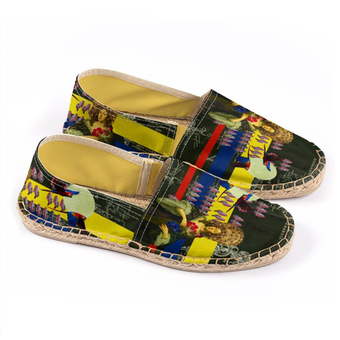 THE FLOWERS OF THE QUEEN Unisex All Over Print Espadrilles
