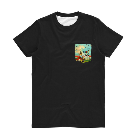KITCHENWARES AND DANDELIONS Classic Sublimation Pocket Tee