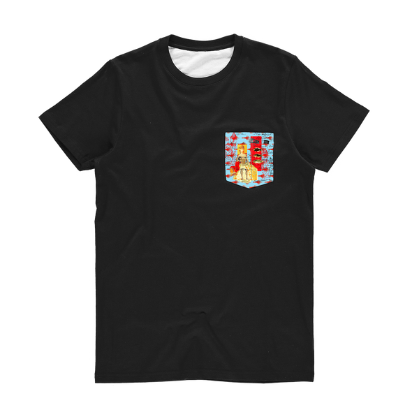 THE SHOWY PLANE HUNTER AND FISH IV Classic Sublimation Pocket Tee