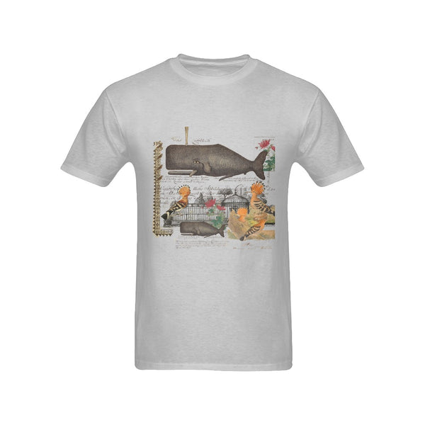 The Whale And The Hoopoe Men's Printed Cotton Tee Shirt