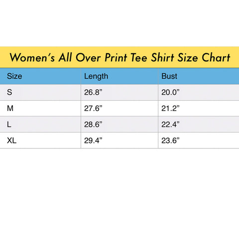 ACCORDING TO PLAN. Women's All Over Print Tee