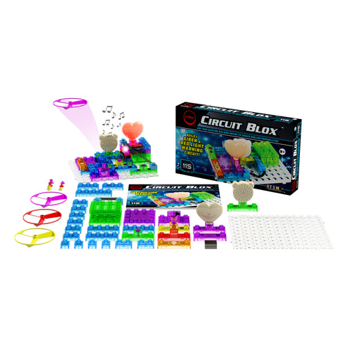 Circuit Blox™ 115 - E-Blox® Circuit Board Building Blocks Toys Kit for Kids
