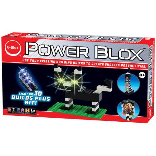 Power Blox™ Builds Plus Set - E-Blox® - LED Light-Up Building Blocks for Kids