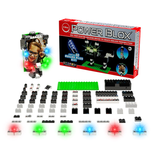 Power Blox™ Builds Plus Set - E-Blox® - LED Light-Up Building Blocks