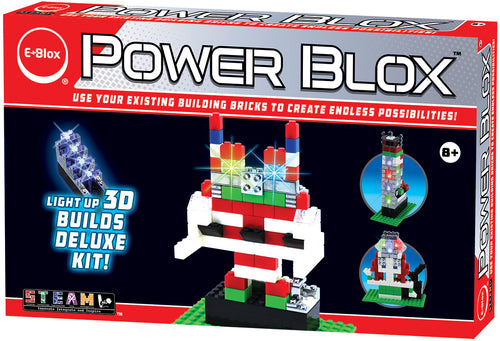 Power Blox Builds Deluxe Set - E-Blox® LED Light-Up Building Blocks for Kids
