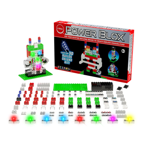 Power Blox™ Builds Deluxe Set - E-Blox® LED Light-Up Building Blocks