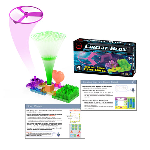 Circuit Blox™ 4 project Student Set - E-Blox® Circuit Board Building Blocks Educational Sets