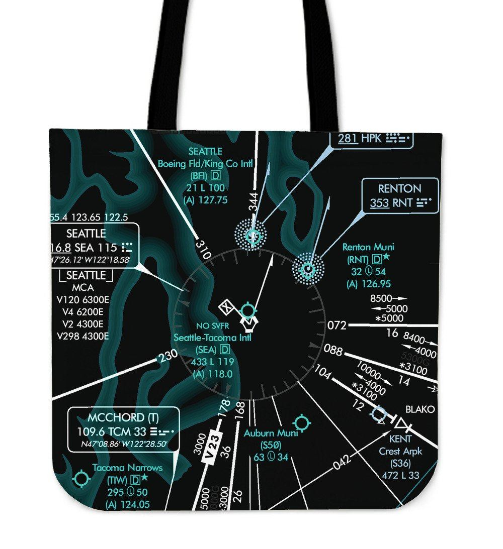 Seattle Low Altitude Tote Bag (Inverted)