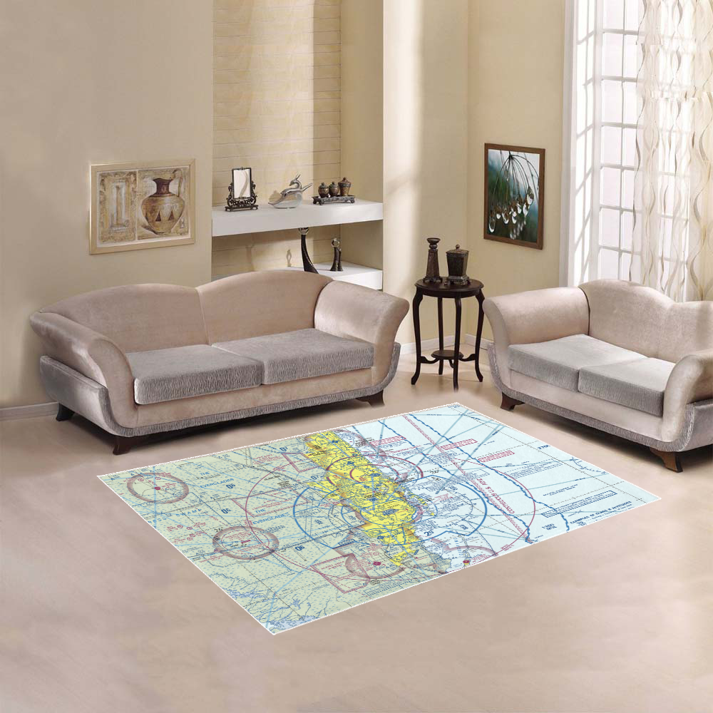 Custom Aviation Airspace Rugs - RadarContact