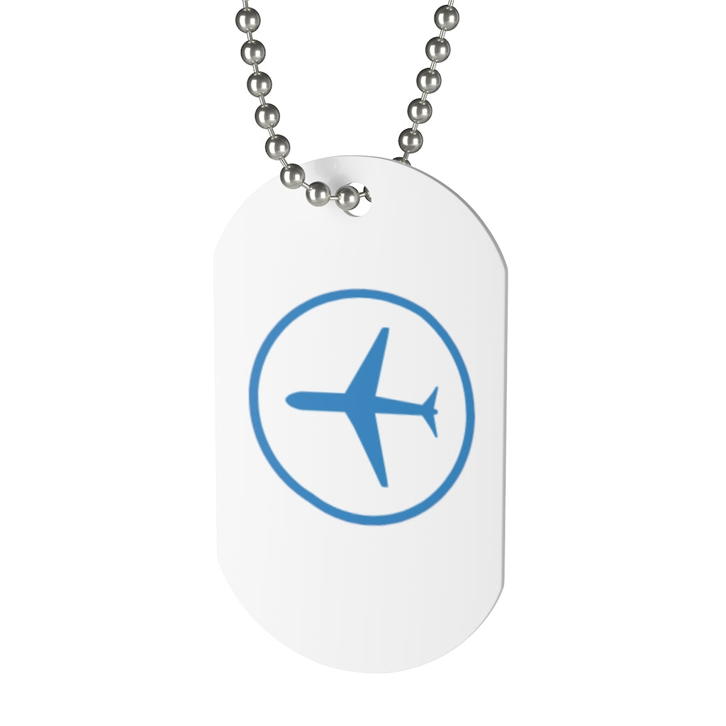 Airplane Symbol Dog Tag