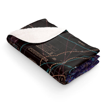 Miami Sectional Sherpa Fleece Blanket (Inverted)
