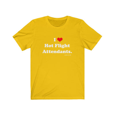 I Heart Hot Flight Attendants T-Shirt - RadarContact