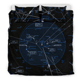 Dallas/Fort Worth Low Altitude Bedding Set (Inverted) - RadarContact