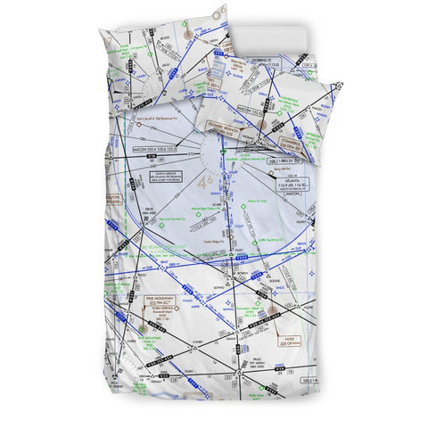 Atlanta Low Altitude Bedding Set - RadarContact - ATC Memes