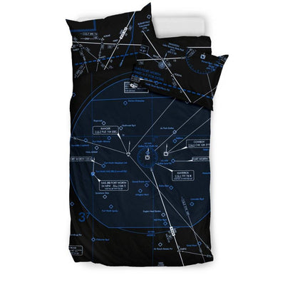 Dallas/Fort Worth Low Altitude Bedding Set (Inverted) - RadarContact - ATC Memes