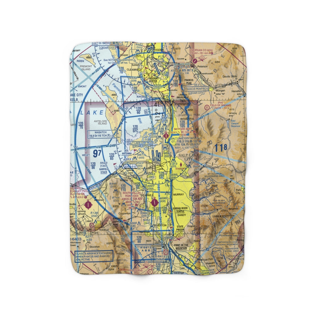 Salt Lake City Sherpa Fleece Blanket SLC