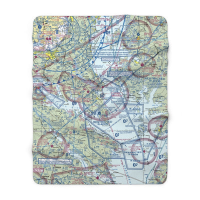 Patuxent River Naval Air Station Sherpa Fleece Blanket NHK - RadarContact