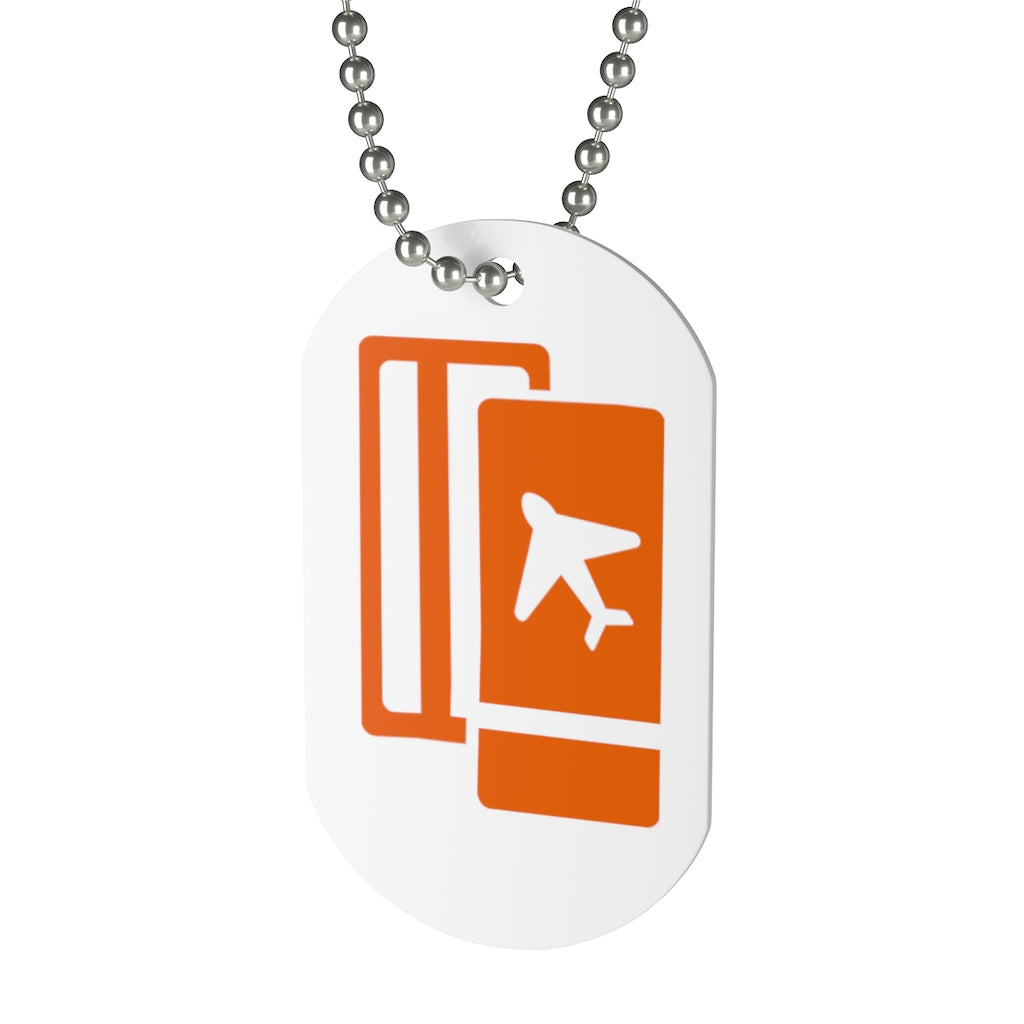 Plane Ticket Symbol Dog Tag