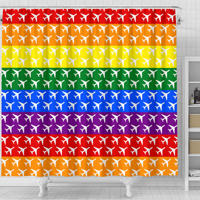 Aviation Pride Shower Curtain