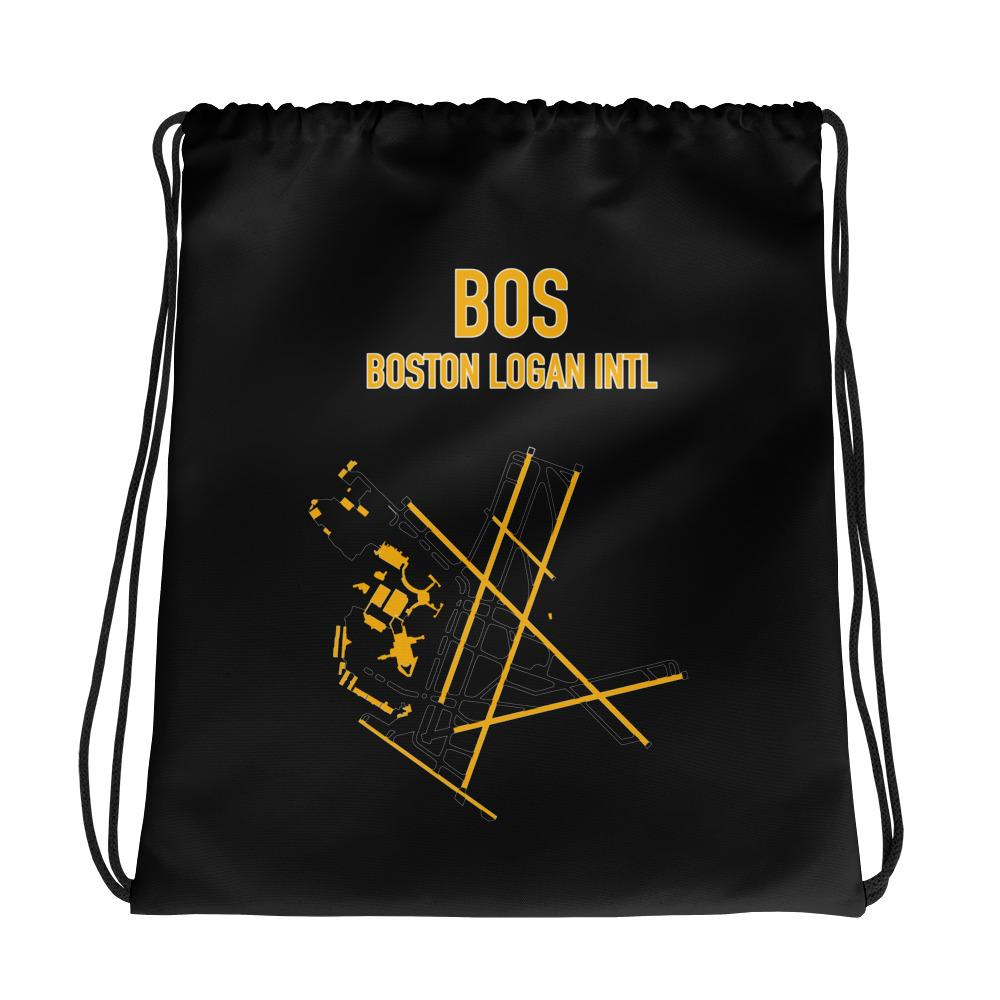 Boston Airport Code Drawstring Bag (Bruins Colors) - RadarContact - ATC Memes