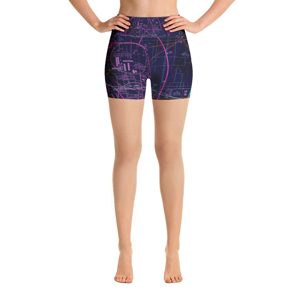 Denver Sectional Yoga Shorts (Inverted) - RadarContact - ATC Memes