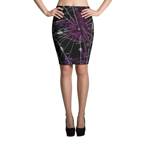 West Palm Beach Low Altitude Pencil Skirt (Inverted)