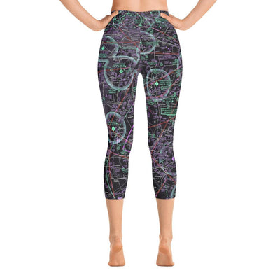 Indianapolis Sectional Yoga Capri Leggings (Inverted) - RadarContact - ATC Memes