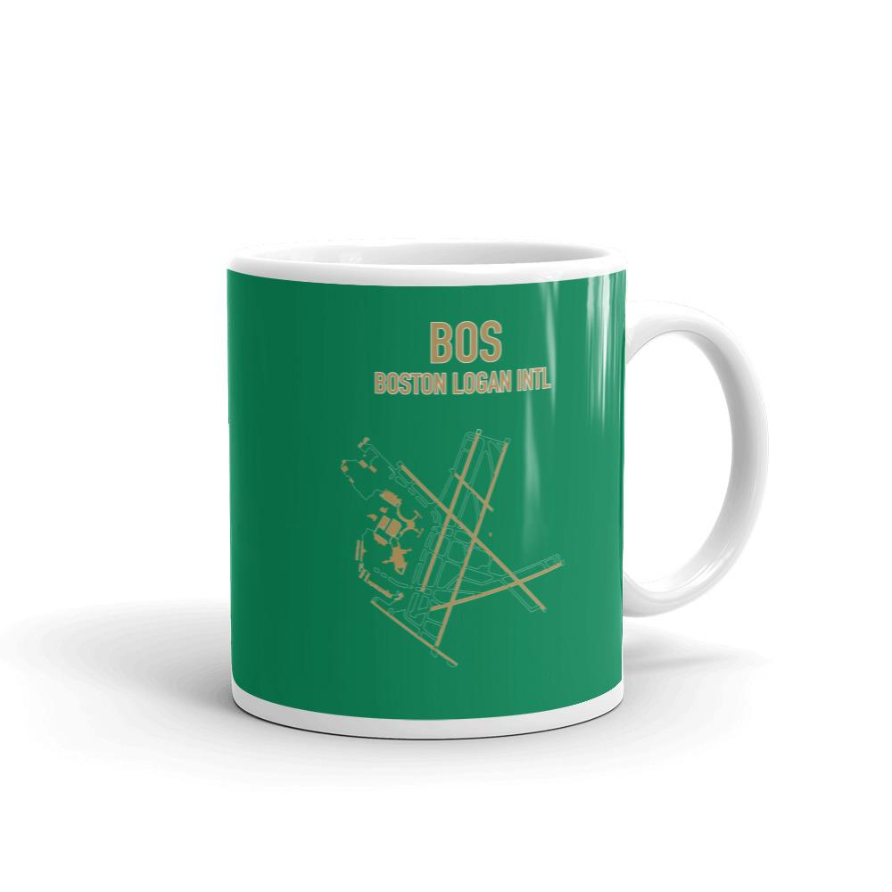 Boston Airport Code Mug (Celtics Colors) - RadarContact - ATC Memes