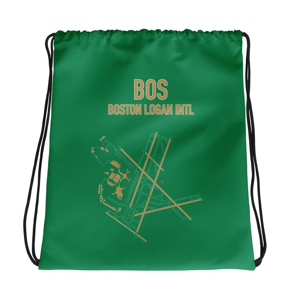 Boston Airport Code Drawstring Bag (Celtics Colors) - RadarContact - ATC Memes