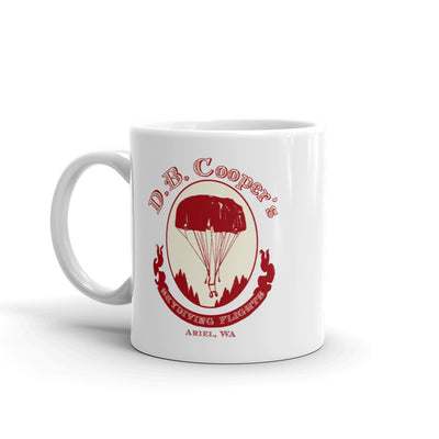 DB Cooper's Skydiving Flights Mug - RadarContact
