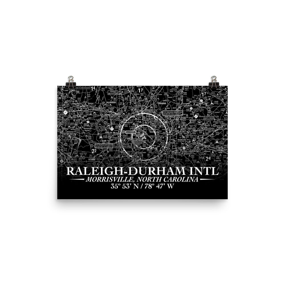 Raleigh-Durham Sectional Poster (Inverted) - RadarContact