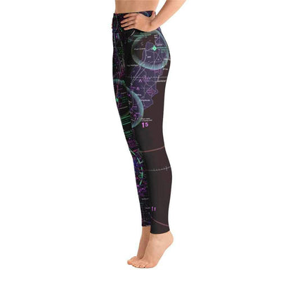 Green Bay Sectional Yoga Leggings (Inverted) - RadarContact - ATC Memes