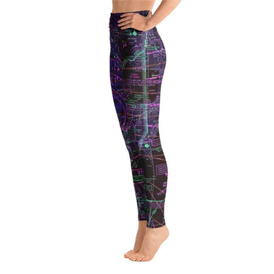 Detroit Sectional Yoga Leggings (Inverted) - RadarContact - ATC Memes