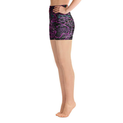 New York Sectional Yoga Shorts (Inverted) - RadarContact