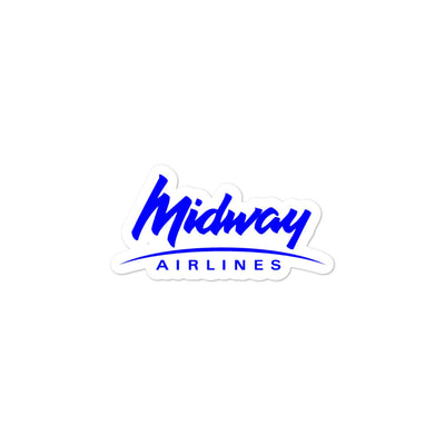 Retro Midway Airlines Sticker