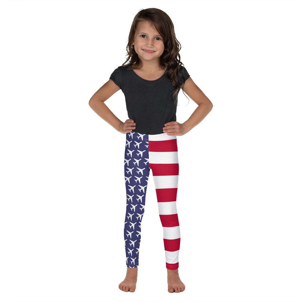 American Aviation Pride Kid's Leggings - RadarContact