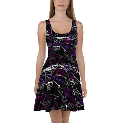 Los Angeles High Altitude Skater Dress (Inverted)