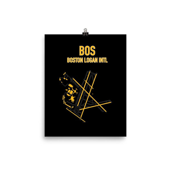Boston Airport Code Poster (Bruins Colors) - RadarContact - ATC Memes