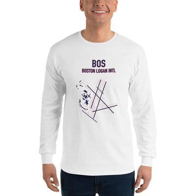 Boston Airport Code Long Sleeve Shirt (Redsox and Patriots Colors) - RadarContact - ATC Memes