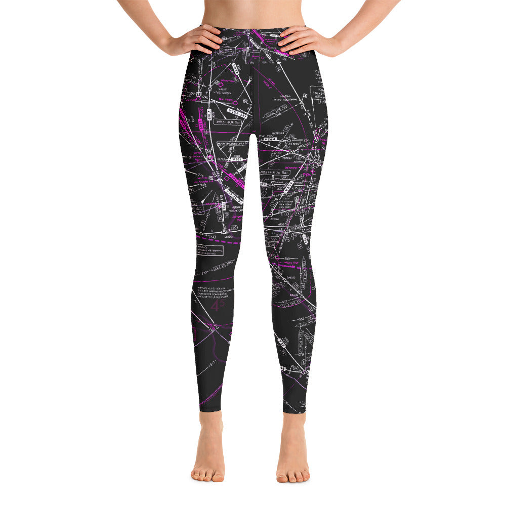 Los Angeles Low Altitude Yoga Leggings (Inverted)