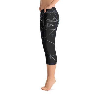 Miami Low Altitude Capri Leggings (Inverted)