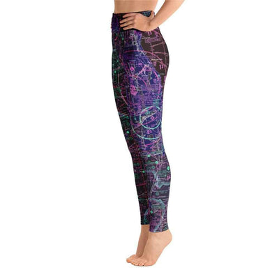 Chicago Sectional Yoga Leggings (Inverted) - RadarContact - ATC Memes