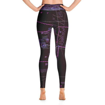 Puerto Rico Sectional Yoga Leggings (Inverted)