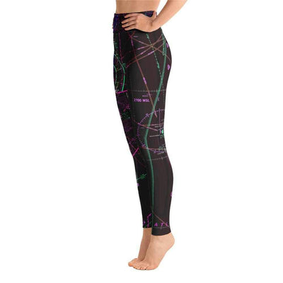 Miami Sectional Yoga Leggings (Inverted)