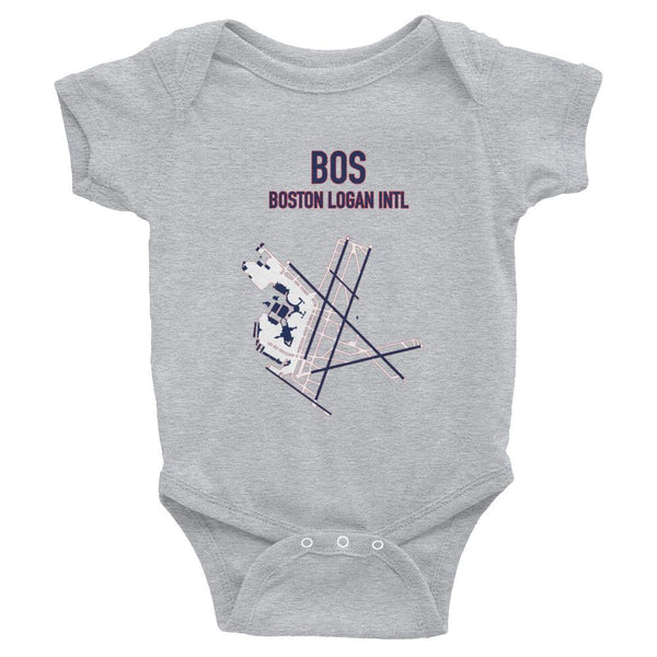 Boston Airport Code Infant Bodysuit (Redsox and Patriot Colors) - RadarContact - ATC Memes