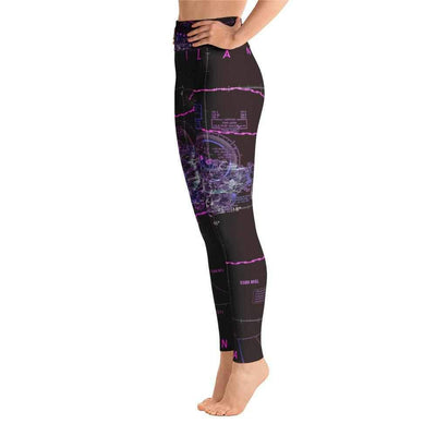 Puerto Rico Sectional Yoga Leggings (Inverted) - RadarContact