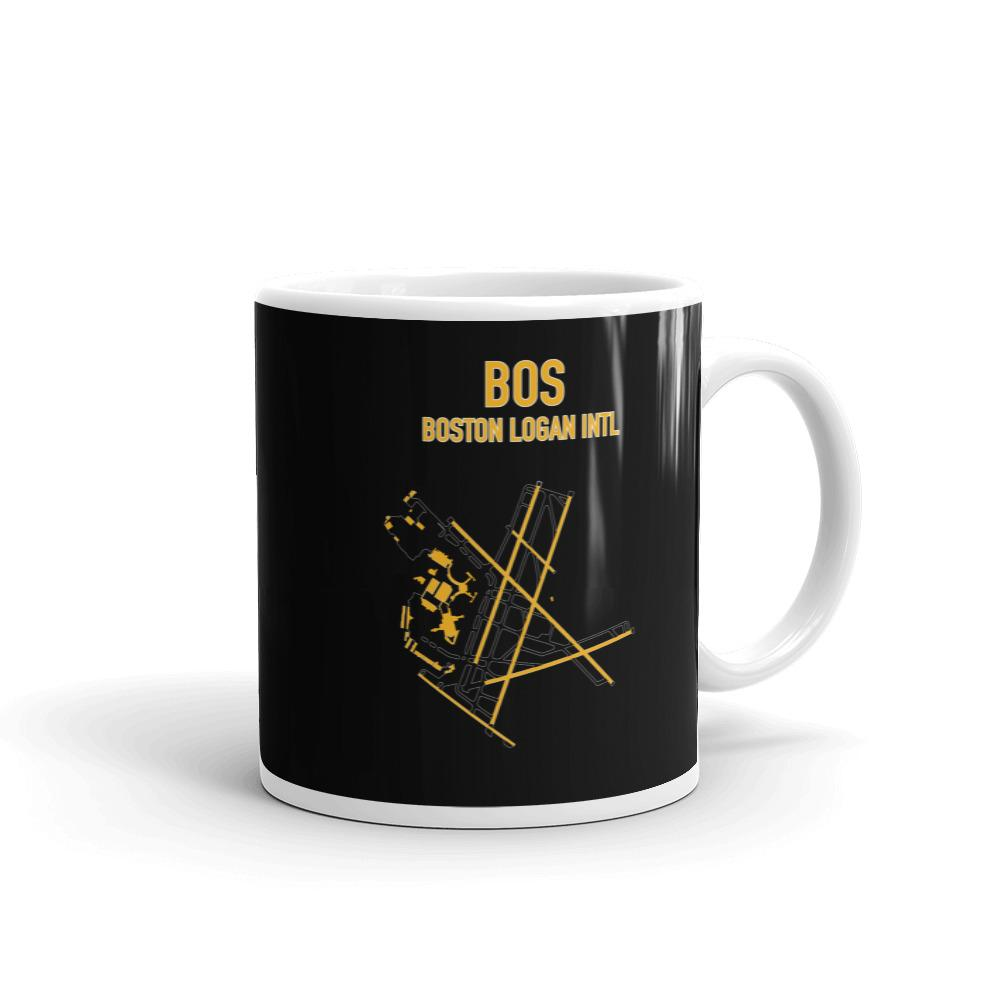 Boston Airport Code Mug (Bruins Colors) - RadarContact - ATC Memes