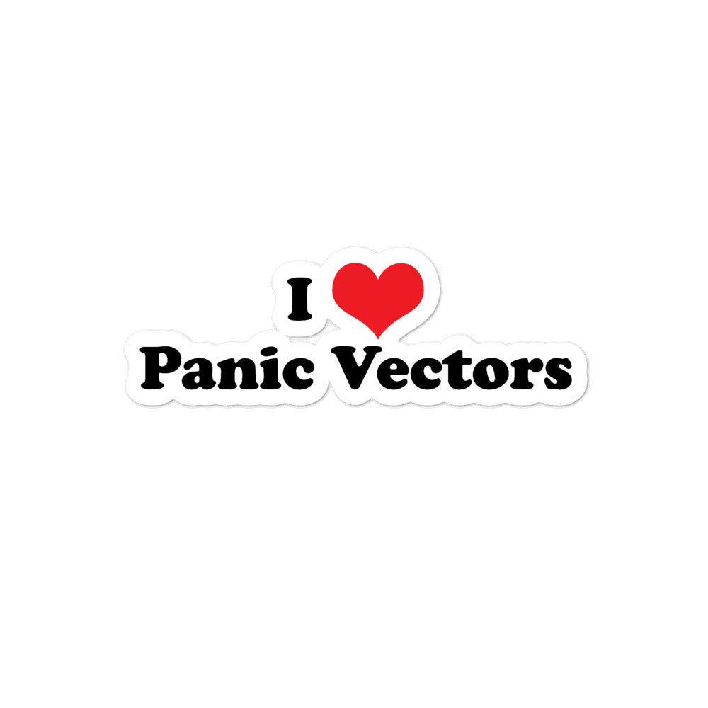 I Heart Panic Vectors Sticker - RadarContact