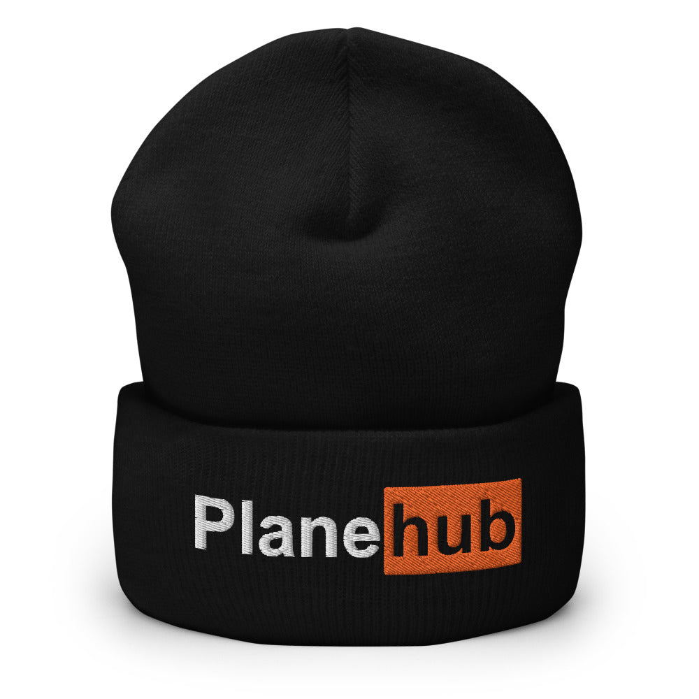 Planehub Embroidered Cuffed Beanie