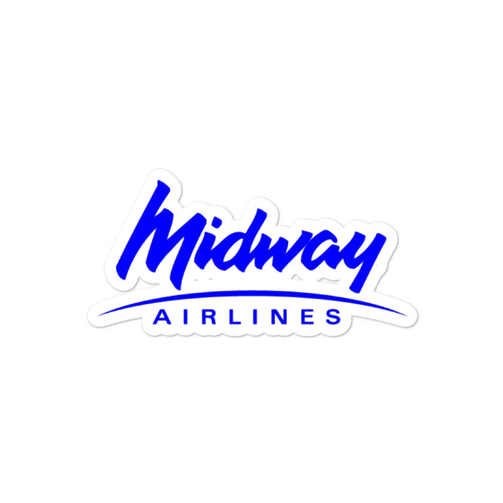 Retro Midway Airlines Sticker - RadarContact